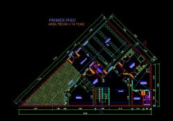 فایل اتوکد پلان معماری طبقه همکف منزل مس ی 2 طبقه با اندازه گذاری و مبلمان کامل قابل ویرایش