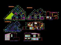 پروژه کامل اتوکد منزل مس ی 2 طبقه دارای نما و برش کامل قابل ویرایش