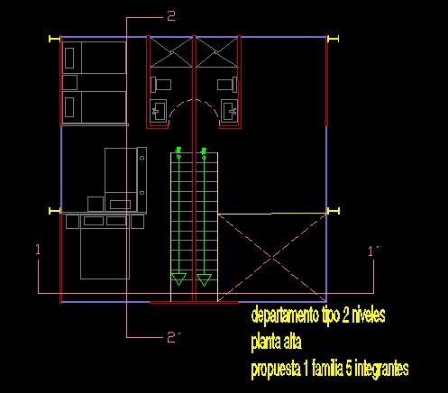 فایل اتوکد پلان معماری طبقه دوم آپارتمان مس ی 5 طبقه کامل قابل ویرایش