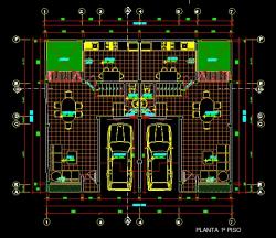 فایل اتوکد پلان معماری طبقه همکف منزل مس ی 3 طبقه با اندازه گذاری و مبلمان کامل قابل ویرایش