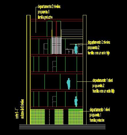 فایل اتوکد برش آپارتمان مس ی 6 طبقه کامل قابل ویرایش