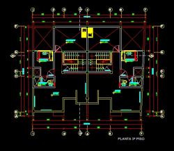 فایل اتوکد پلان معماری طبقه دوم منزل مس ی 3 طبقه با اندازه گذاری و مبلمان کامل قابل ویرایش