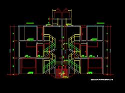 فایل اتوکد برش منزل مس ی 3 طبقه با کد ارتفاعی کامل قابل ویرایش