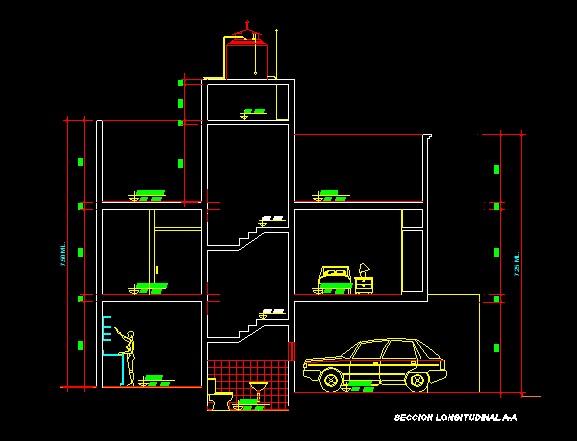 فایل اتوکد برش منزل مس ی 3 طبقه با کد ارتفاعی و مبلمان کامل قابل ویرایش