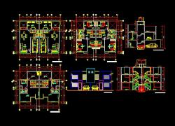 پروژه کامل اتوکد منزل مس ی 3 طبقه دارای نما و برش کامل قابل ویرایش