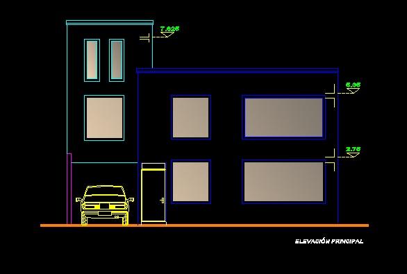 فایل اتوکد نما منزل مس ی 3 طبقه با کد ارتفاعی کامل قابل ویرایش