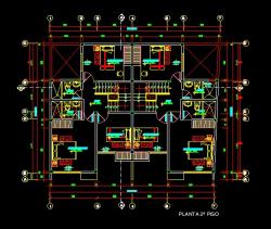 فایل اتوکد پلان معماری طبقه اول منزل مس ی 3 طبقه با اندازه گذاری و مبلمان کامل قابل ویرایش