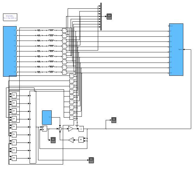 پروژه مدلسازی و شبیه سازی موتور جریان مستقیم بدون جاروبک 9 فاز bldc