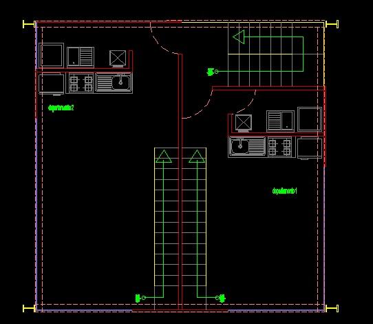 فایل اتوکد پلان معماری طبقه اول آپارتمان مس ی 5 طبقه کامل قابل ویرایش