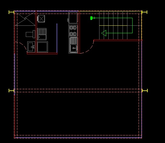 فایل اتوکد پلان معماری طبقه ذوم آپارتمان مس ی 5 طبقه کامل قابل ویرایش