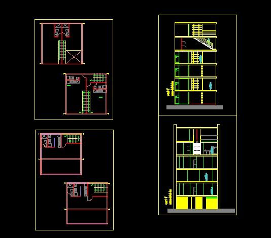 پروژه کامل اتوکد آپارتمان مس ی 5 طبقه دارای برش کامل قابل ویرایش