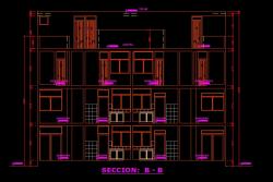 فایل اتوکد برش آپارتمان مس ی 3 طبقه با کد ارتفاعی و مبلمان کامل قابل ویرایش