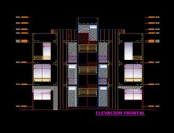 فایل اتوکد نما آپارتمان مس ی 3 طبقه با کد ارتفاعی کامل قابل ویرایش
