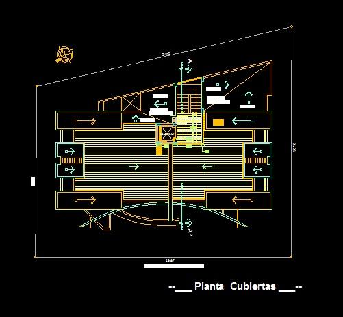 فایل اتوکد پلان بام مجتمع مس ی 6 طبقه کامل قابل ویرایش