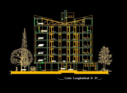 فایل اتوکد برش مجتمع مس ی 6 طبقه با کد ارتفاعی کامل قابل ویرایش