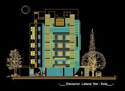 فایل اتوکد نما مجتمع مس ی 6 طبقه کامل قابل ویرایش