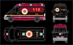 طراحی آمبولانس