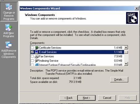 آموزش ساخت ایمیل در ویندوز سرور