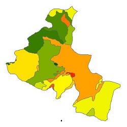 نقشه ی زمین شناسی شهرستان اردبیل
