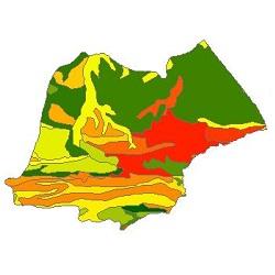 نقشه ی زمین شناسی شهرستان بیله سوار