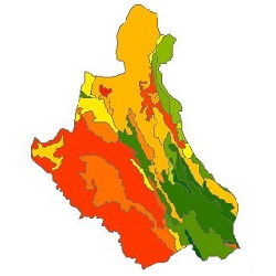 نقشه ی زمین شناسی شهرستان خلخال