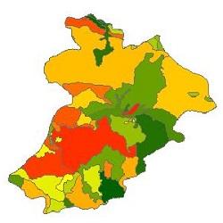 نقشه ی زمین شناسی شهرستان مشگین شهر