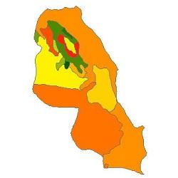 نقشه ی زمین شناسی شهرستان نمین
