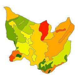 نقشه ی زمین شناسی شهرستان نیر