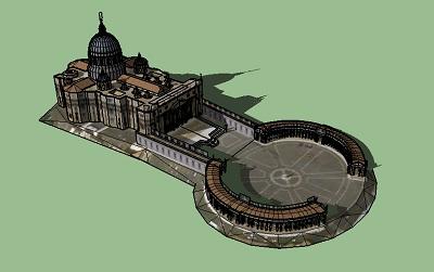 دانلود پاورپوینت تحلیل و بررسی میدان سن پیتر رم همرا با فایل سه بعدی میدان