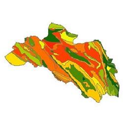 نقشه ی زمین شناسی شهرستان لردگان