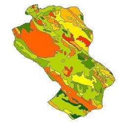 نقشه ی زمین شناسی شهرستان شهرکرد