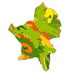 نقشه ی زمین شناسی شهرستان بروجن