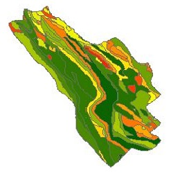 نقشه ی زمین شناسی شهرستان کوهرنگ