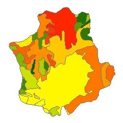 نقشه ی زمین شناسی شهرستان اسدآباد