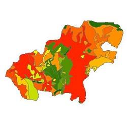 نقشه ی زمین شناسی شهرستان همدان
