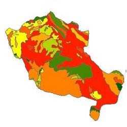 نقشه ی زمین شناسی شهرستان کبودرآهنگ