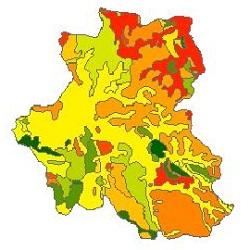 نقشه ی زمین شناسی شهرستان ملایر