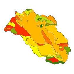 نقشه ی زمین شناسی شهرستان نهاوند
