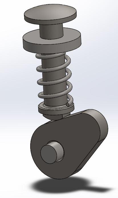 طراحی مکانیزم میله و بادامک در سالیدورک