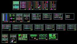 فایل اتوکد پروژه درس طراحی فنی رشته معماری با جزئیات کامل